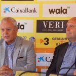Josep Llaó (vicepresident FCF) i José Miguel Calle (director Lliga Catalana Futbol Sala)