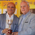 Josep Llaó (vicepresident FCF) i Santi Siquier (representant territorial de la Secretaria General de l'Esport a Barcelona)