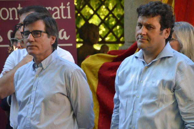 L'alcalde Xavier Fonollosa i el primer tinent d'alcalde Adolf Bargués