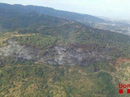 Vista aèria incendi El Congost