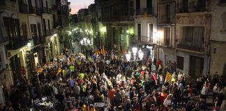 Concentració a la plaça de la Vila
