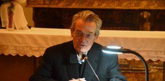 Mossèn Josep Baucells, en un moment de la conferència
