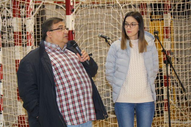 Jordi del Amo, president CB La Mercè, i Belén Leiva, regidora Esports