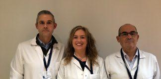 El cap de Planificació i Processos, Rafael Gómez, la cap de llevadores, Montserrat Batlle, i el director de l'Hospital Sant Joan de Déu, Dr. Manuel Álvarez
