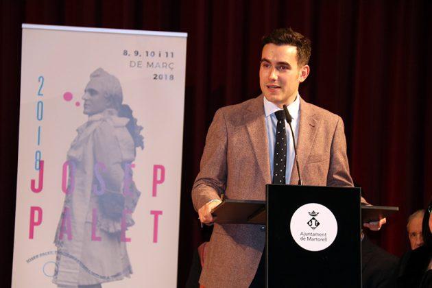Aleix Palau, president de les Joventuts musicals de Martorell. Final del 2n Concurs de Cant Josep Palet