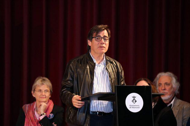 Xavier Fonollosa, alcalde de Martorell. Final del 2n Concurs de Cant Josep Palet