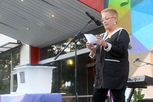 Acte commemoratiu de l'1-O d'Òmnium Cultural. Montse Fusalba