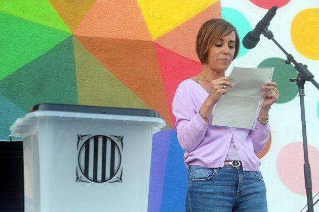 Acte commemoratiu de l'1-O d'Òmnium Cultural. Montse Salas