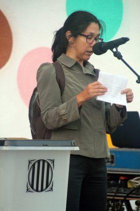 Acte commemoratiu de l'1-O d'Òmnium Cultural. Pilar González