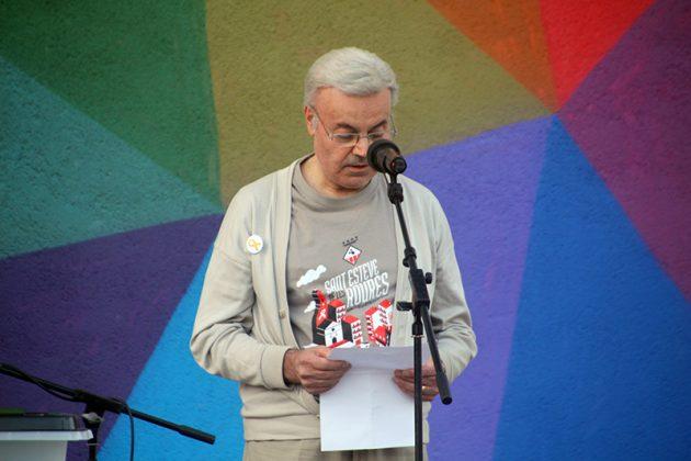 Acte commemoratiu de l'1-O d'Òmnium Cultural. Lluís García