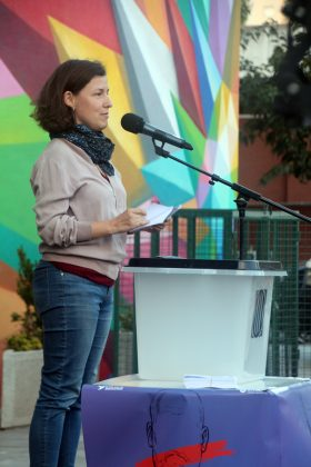 Acte commemoratiu de l'1-O d'Òmnium Cultural. Núria Domènech