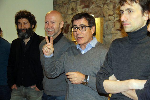 Inauguració de 'Individu'. Benito, Corral, Fonollosa i Roig
