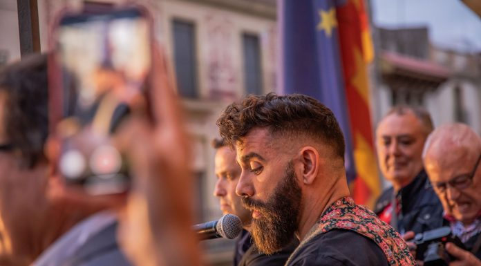 Festa del Roser. El pregoner, Marc Ribas (Fotografia: Grisphoto)